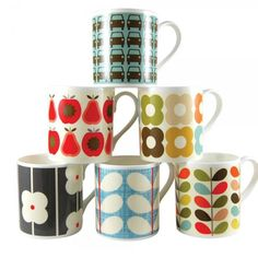 mugs Orla Kiely are so beautiful and all the different prints and colors would look good in any kitchen