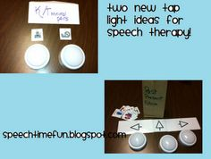 Two New Tap Light Ideas -  Pinned by @PediaStaff – Please Visit http://ht.ly/63sNt for all our pediatric therapy pins