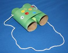 recycled art binoculars