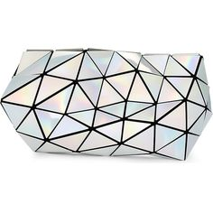 BAO BAO ISSEY MIYAKE Distortion prism clutch found on Polyvore featuring bags, handbags, clutches and bao bao by issey miyake