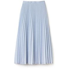 White Women's Check Print Long Pleated Skirt ($205) ❤ liked on Polyvore featuring skirts, bottoms, saias, long pleated maxi skirt, checkered skirt, ankle length skirts, long maxi skirts and floor length skirt