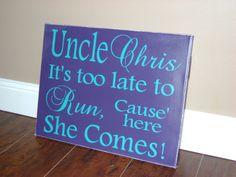 Ring Bearer Sign Wedding Signs Flower Girl Sign by MadeByCRose, $30.00