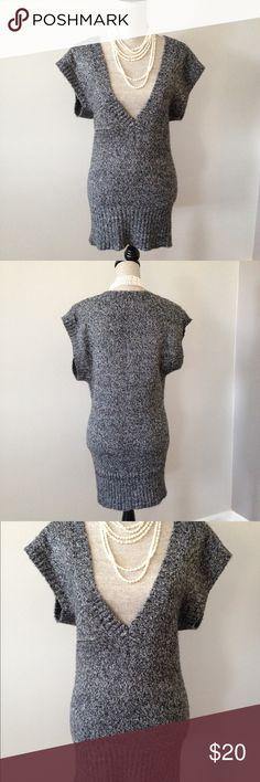 Xhilaration Sweater, NWOT Flawless, like new condition, never worn.  Super soft grey and black acrylic and nylon fabric for easy wash. Xhilaration Sweaters V-Necks