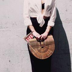 cult gaia bamboo handbag.