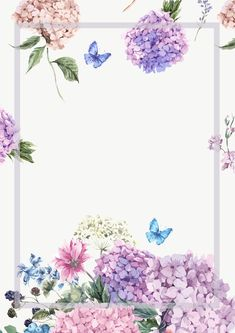 Elegant Watercolor Flowers Frame background - Vector elegant watercolor painted fresh flowers background Source by Ankara Nakliyat Art Floral, Frame Floral, Flower Frame, Flower Art, Art Flowers, Flower Ideas, Floral Flowers, Flower Background Wallpaper, Frame Background