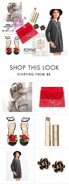 """Romwe"" by larasusic ❤ liked on Polyvore featuring Chloé, Charlotte Olympia, Stila and Chantecler"
