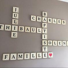 Dardenne a ajouté une photo de son achat Scrabble Letters, Wooden Letters, Scotch, Silicone Glue, Smooth Walls, Scandinavian Style, Decoration, House Warming, Gray Color