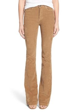 c035d76a6e8 Paige Denim  Bell Canyon  High Rise Corduroy Flare Pants available at   Nordstrom Camel