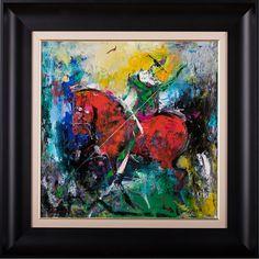 Claunul și balaurul III, pictura in ulei pe panza, artist: Iurie Cojocaru, tablou, galerie online Painting, Painting Art, Paintings, Painted Canvas, Drawings