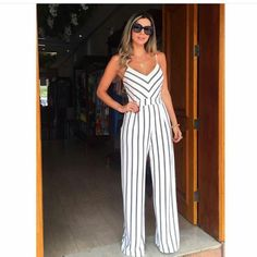 Designer Jumpsuits Roxy Attitude Jumper Cruise Pure Beauty Jumpsuits For Ladies Dinner Suit Stripes Boho Outfits, Summer Outfits, Casual Outfits, Cute Outfits, Fashion Outfits, Womens Fashion, Jumpsuit Outfit, Casual Jumpsuit, Style Casual
