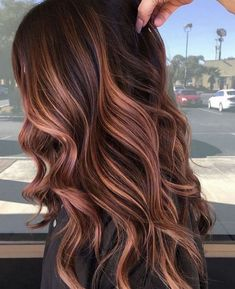 16 creative dark brown hair color highlights ideas 28 - All For Hair Color Balayage Brown Hair With Caramel Highlights, Brown Hair Balayage, Brown Blonde Hair, Hair Color Highlights, Hair Color Balayage, Thick Highlights, Honey Highlights, Hazel Brown Hair, Brunette With Highlights