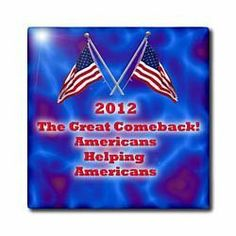 "2012 Americas Gret Comeback - 12 Inch Ceramic Tile by 3dRose. $22.99. Ceramic tile image is applied to the top surface and has a high gloss finish. Glass tile image is printed on underside of glass. Construction grade. Ceramic or glass tiles available.. Thickness: 0.25"". Clean with mild detergent. 2012 Americas Gret Comeback Tile is commercial quality. Construction grade, glossy finish tiles are produced from material clays and minerals into exceptionally reliab..."