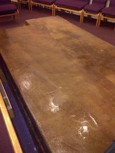 Interior stained concrete
