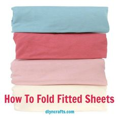 Great Laundry Tip – How To Fold Fitted Sheets – DIY & Crafts