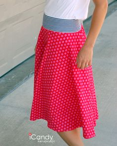Exposed Elastic Skirt Tutorial, use this to repurpose too big maxi dress