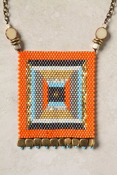 beaded pendant -peyote stitch