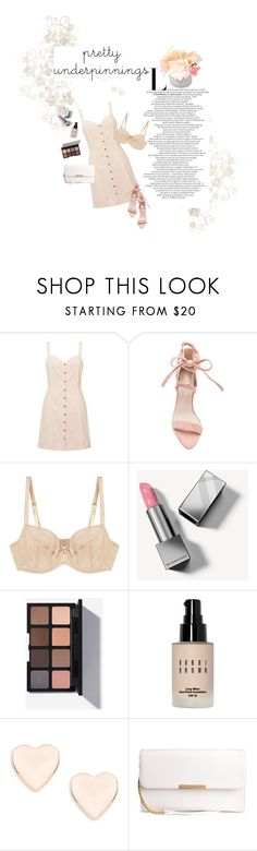 """""""Pretty Underpinnings"""" by sneakyartsit ❤ liked on Polyvore featuring Miss Selfridge, Chantelle, Burberry, Bobbi Brown Cosmetics, Ted Baker and Côte Noire"""