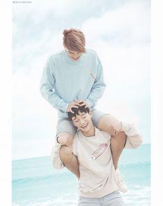 "EXO Photobook ""Dear Happniess"" in Fiji - Chen and Kai Exo Chen, Exo Kai, Bts And Exo, Chanyeol Baekhyun, Park Chanyeol, Kris Wu, K Pop, Exo Dear Happiness, Kdrama"