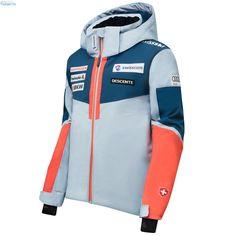 Descente Kids Swiss Ski Team Jacket Swiss Ski, Team Jackets, Ski Wear, Motorcycle Jacket, Skiing, Kids, How To Wear, Fashion, Ski