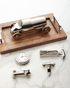 Race+Car+Bar+Accessories+by+Godinger+at+Neiman+Marcus.