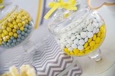 Anders Ruff Custom Designs, LLC: Yellow and Grey Elephant Baby Shower
