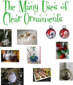 The Many Uses of Clear Ornaments