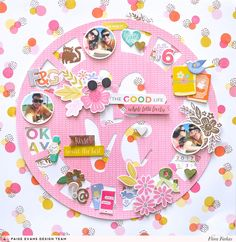 Circles with Pink Paislee Paige Evans Oh My Heart collection Love Scrapbook, Disney Scrapbook, Scrapbook Page Layouts, Scrapbook Paper Crafts, Scrapbook Albums, Scrapbooking Digital, Homemade Mothers Day Gifts, Oh My Heart, Specialty Paper