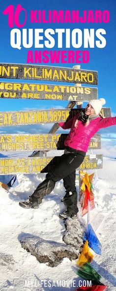 10 of the most common Mount Kilimanjaro questions ANSWERED including training, altitude sickness, what to pack for hiking Mt Kilimanjaro, and more!
