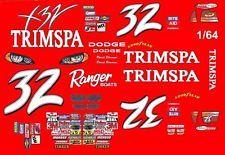 #32 David Stremme TrimSpa 2004 1/64th HO Scale Slot Car Waterslide Decals