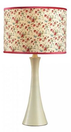 "Antiqued White Table Lamp, perfect for any country home! Cottage Lake 21"" Tall 11"" Wide"