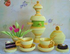 Noch Pädagogische Erfahrung 8. März Geburtstag Tag der Lehrer Bumagoplastika Quilling laden alle zum Tee Well Foto 1