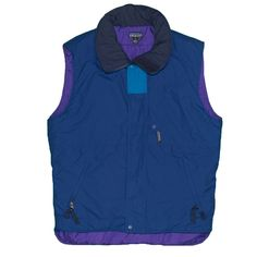 7eddeb172c234 Patagonia Women s Vest Jacket Coat Vintage Small Blue Puffer Lined    Insulated