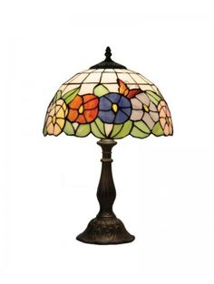 Flower Stained Glass Tiffany Table Lamps