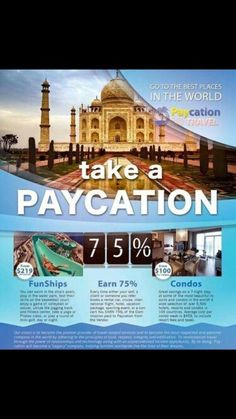 Dont vacation, paycation!