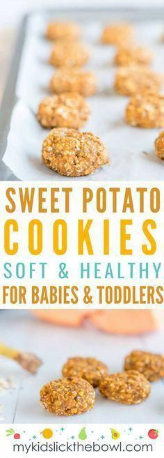 Recipes Breakfast Cookies Sweet Potato Cookies a baby led weaning recipe for soft healthy cookies with no added sugar perfect as a snack or breakfast idea Sweet Potato Cookies, Baby Cookies, Sweet Potato Recipes, Baby Food Recipes, Gourmet Recipes, Snack Recipes, Cookies For Babies, Baby Sweet Potato Recipe, Healthy Cookies For Kids