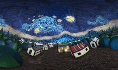 3D-VR version of Von Gogh's Starry Night
