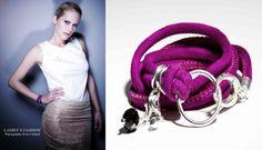 Vintage Velour Lederarmband mit Onyx Charm von Seila's Herzenssachen auf DaWanda.com