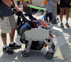 Star Wars AT-AT stroller. I would totally do this.