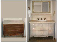 Re-purposed Bathroom Vanity
