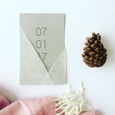 Wedding invitation - minimal #sostrestudio
