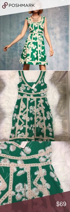 """{Anthropologie} Maeve Floral dress Flattering floral dress by Maeve. Perfect for weddings or dress down for casual days. Dress measures at 34""""l. Brand new with tag. Anthropologie Dresses"""