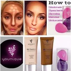 Contouring made simple with Younique Contour set!! go 2 shades lighter for the highlight and 2 shades darker for low light