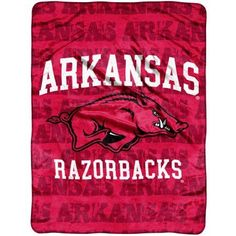 Ncaa Arkansas 46x60 Micro Raschel Throw, Multicolor