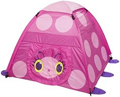 Melissa & Doug Sunny Patch Trixie Ladybug Camping Tent for sale online Tent Reviews, Melissa & Doug, All Toys, Unisex Baby Clothes, Imaginative Play, Pink Polka Dots, Boutique, Tent Camping, Campsite