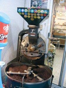 Kaffee Straßenröstung