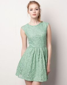Mint Lace Dress.