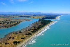 Canterbury East Coast, New Zealand looking towards the Southern Alps