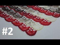 How to Knit – Hand Fan Scarf with a Card – Harika El işleri-Hobiler Crochet Cardigan, Crochet Shawl, Crochet Stitches, Knit Crochet, Baby Knitting Patterns, Bridal Comb, Vest Pattern, Friendship Bracelet Patterns, Hand Fan
