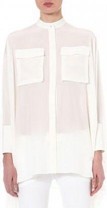 McQ Cape silk shirt #AlexanderMcQueen White #SS14 #Minimal #Fashion
