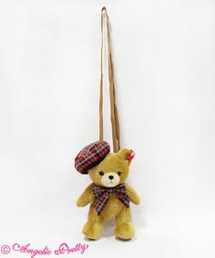 British Bear Plush Pouch